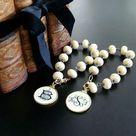 Scrimshaw Monogram Cipher Charm Bracelet - Lisbeth Bracelet