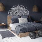 Half Mandala Wall Decal Headboard Master Bedroom Boho Bohemian   Etsy