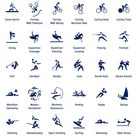 Pictograms for Tokyo 2020 Olympics show athletes in action