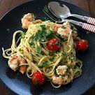 Spaghetti Aglio Olio mit Garnelen