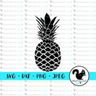 Pineapple, Hawaiian Islands, Summer Vacation, Beach Vibes Be a Pineapple SVG, Clipart, Print and Cut File Stencil, Silhouette, dxf, png, jpg