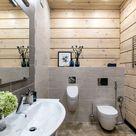 Holzverkleidung von Wand und Decke im modernen Haus