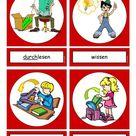 Flashcards Verben In der Schule 4 mittel