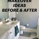 DIY BATHROOM MAKEOVER IDEAS BEFORE & AFTER