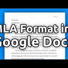 How to Set Up an MLA Format Paper with Works Cited Page in Google Docs