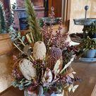 Dried Floral Arrangement   Dining Room