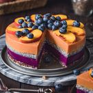 Vegan Peach Blueberry Yoghurt Cake With Chia Seeds   Barbara Just