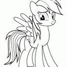 Dibujos para colorear de Rainbow Dash de My Little Pony