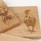 Rooster Oak Chopping Board
