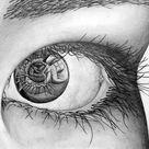 Pencil   House In Eye