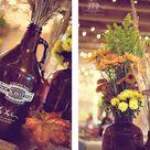 Beer Bottle Centerpieces