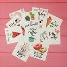 12 Color Cards Pack Inspiration Cards set Printable Cards   Etsy