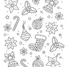 Easy Adult Coloring Page for Christmas | Woo! Jr. Kids Activities