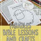 Parables in the Bible, Unit with Lessons and Crafts for Kids