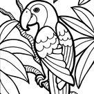 papegaai in de jungle - TopKleurplaat.nl