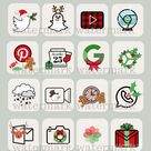 Christmas iPhone App Icons   ios 14 Aesthetic App Covers