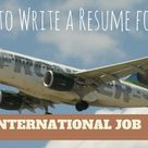 How to Write a Resume for International Job? - WiseStep