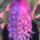 """Hair Artist✨PulpRiot Educator on Instagram: """"Who else was loving the split hair color in 2019 ?! This was one of my most liked photos of the year 💜💗 @pulpriothair was the paint…"""""""