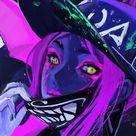 Neon art, Akali, League of Legends, video game, 1080x1920 wallpaper
