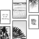 Heimlich Premium Set of Posters | Stylish Photo and Quote Prints Fashion Wall Decor | Glam Wall Decor for Living Room and Bedroom - Good Vibes / 4x [8.5x11] and 2x [11x17]