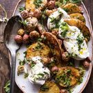 Roasted Mixed Potatoes with Spring Herbs and Burrata | Recipe | Vegetable dishes, Dinner, Food