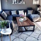 37+ Ideeën woonkamer decor grijs bruin blauw