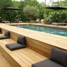 Above Ground Swimming Pool & Bespoke Decking Area Custom Design BBQ Area Seating    eBay