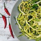 Rezept für Low Carb Zucchini-Spaghetti aglio e olio - 6 Zutaten Rezept