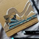 Architectural Drawings on Cardboard