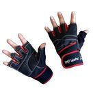 RedFox Women's Workout Glove with Wrap Around Wrist Support and HoneycombX Grip - Large