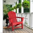 Weather-Resistant Adirondack Chair In Red