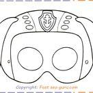 paw patrol zuma mask printable