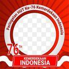Twibbon Hut Ri Ke 76 Tahun 2021, 17 Agustus, Dirgahayu Republik Indonesia, 76 Tahun PNG Transparent Clipart Image and PSD File for Free Download