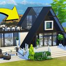 HOW TO: A-FRAME ROOF/HOUSE   The Sims 4   Tutorial