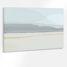 Calm,Nature,Wall Art Modern,Midcentury,Blue,Gray,Minimalist,Abstract Painting Large,Canvas,Print