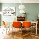 vibrant orange accents (via The Socialite Family) (my ideal home...)