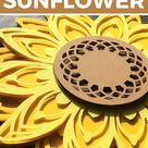 Sunflower Layered SVG | Mandala Flower Cutting File