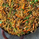 Japchae (Korean Stir-Fried Glass Noodles)