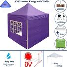 8'x8' Purple - EZ Pop up Canopy Party Tent Instant Gazebo 100% Waterproof Top with 4 Removable Sides - by DELTA Canopies