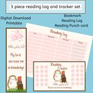 Book tracker & log printable with dua for kids reading | Etsy