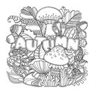 Autumn Coloring Page • FREE Printable eBook