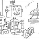 Free Printable Robot Coloring Pages For Kids