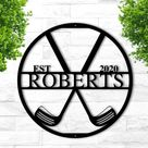 Personalized Golf Sign, Personalized Golf Decor, Golf Wall Art, Metal Golf Sign, Man Cave Sign, Golf Gifts for Men, Husband, Him, Boyfriend