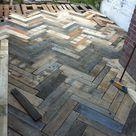 Sparren der Terrasse in Pallet Europe Pallet Flow Arbeiten am Fortschritt Hinter…   Outdoor Diy