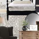 Splurge Vs Save Bedroom Black and White with Warm Wood Tones