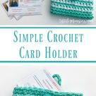 Simple Crocheted Card Holder