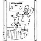 Ausmalbilder zum Ausdrucken Die Simpsons L0