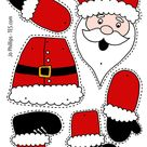 Christmas - Colour, cut, pin and play - 6 designs - PRECOLOURED & BLANK Xmas split pin activitity | Teaching Resources