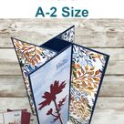 Fun Fold Pinwheel Tower Card A-2 Size - Frenchie Stamps