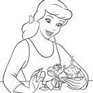 Walt Disney Characters Photo: Walt Disney Coloring Pages - Princess Cinderella & Jaq